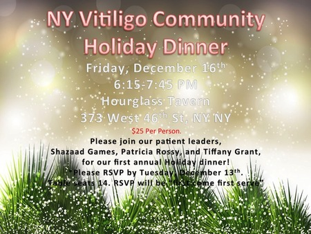 Ny Vitiligo Community Dinner Flyer