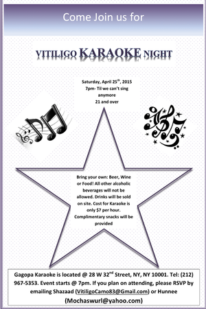 Vitiligo Karaoke Night April 2015