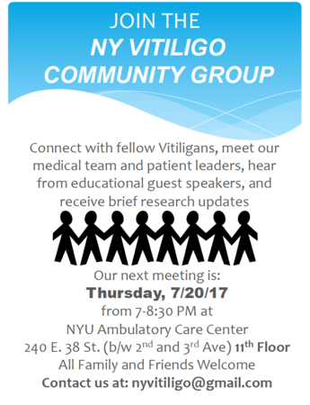Ny Vitiligo Support Group Meeting Flyer