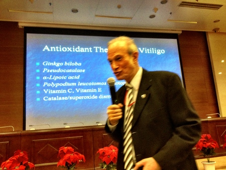 Prof. Robert A. Schwartz during presentation